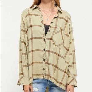 Urban outfitters flannel button down shirt